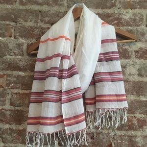 Pink orange and cream scarf